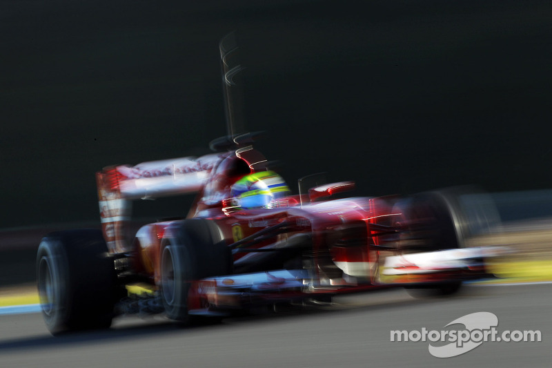 'Downbeat' Massa fastest in new Ferrari