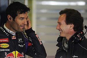 Webber takes over testing the RB9 on day three in Barcelona