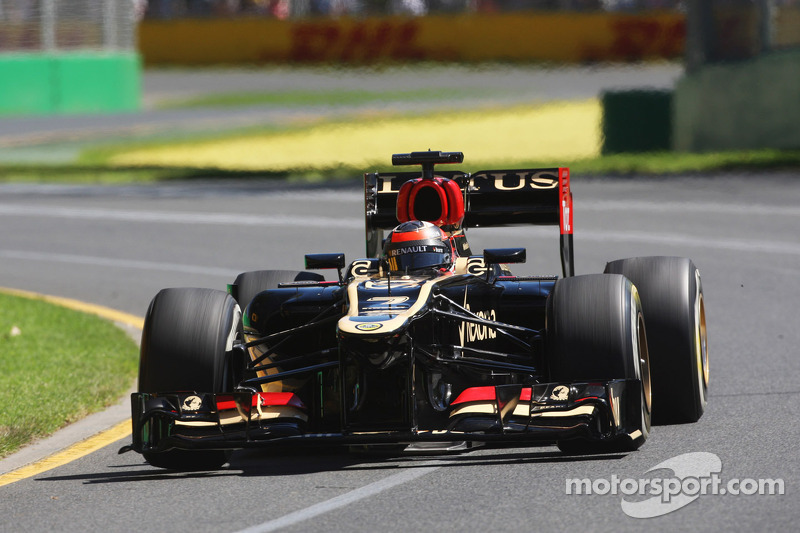 A steady Friday pratice for Lotus in Albert Park