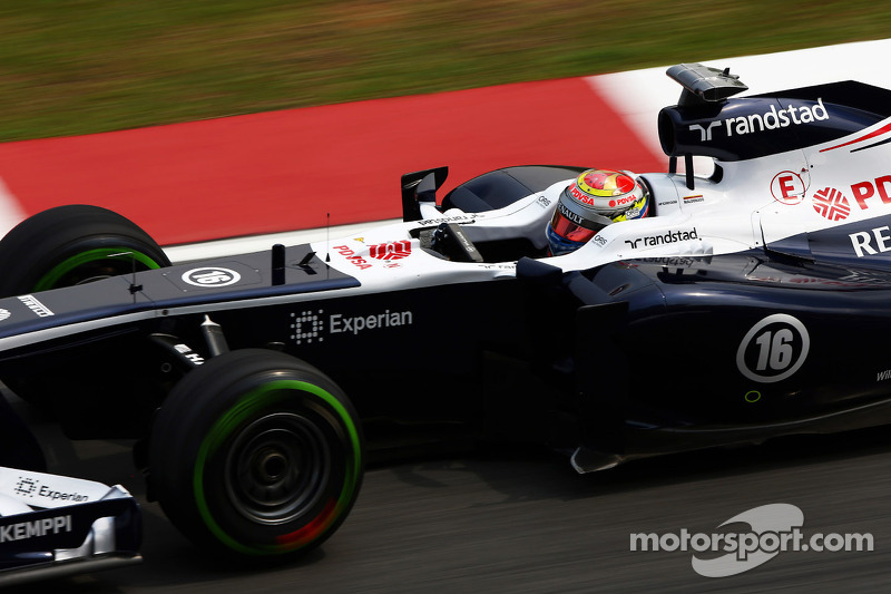 Williams qualifying notes for Malaysia