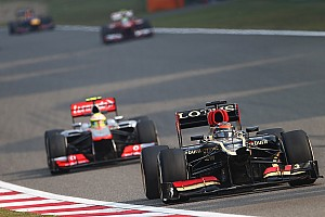 Driving a damaged Lotus, Raikkonen finished second on Chinese GP