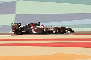 Sauber tested aerodynamic components on Friday practice at Sakhir