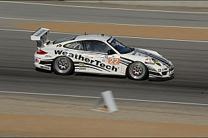 Alex Job Racing Porsche on pole in GTC at Laguna Seca