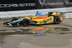 Conway wins pole for the Indy dual in Detroit Race 2