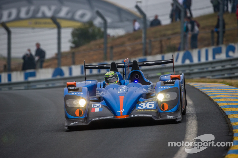 Alpine A450 and Nelson Panciatici in the starting blocks