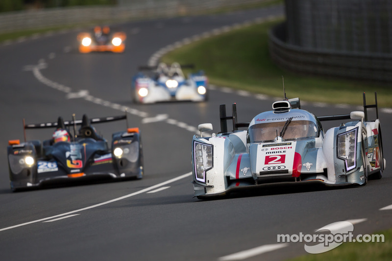 All Audi cars in front at Le Mans