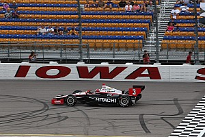 IndyCar Race report Penske's Castroneves maintained in Iowa his lead in series championship