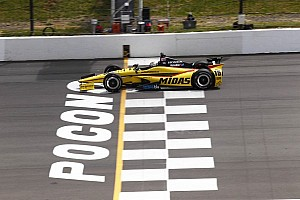 IndyCar Blog Pocono's elevated sprocket drive shape gives IndyCar traction