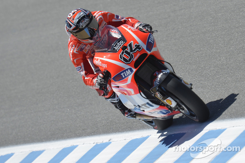 Provisional front row for Dovizioso at Laguna Seca, Hayden ninth
