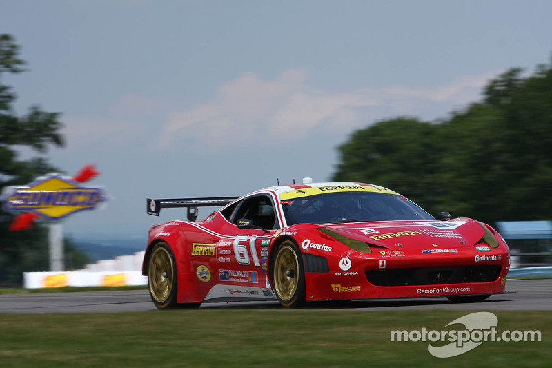 AIM Motorsport Racing with Ferrari 458 Italia will start fifth Saturday at Road America