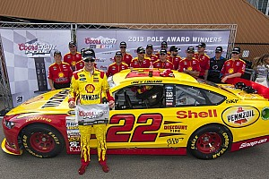 NASCAR Sprint Cup Qualifying report Logano claims pole in record time for Michigan 400