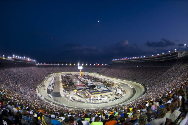 Racing at Bristol is always exciting, especially at night