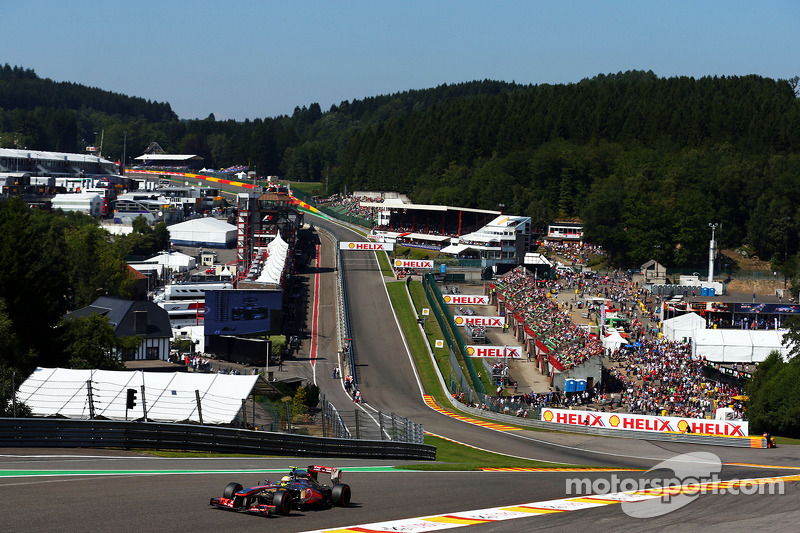 A good Friday practice for McLaren's Perez at Spa