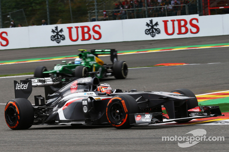 No points for Sauber on Belgian GP