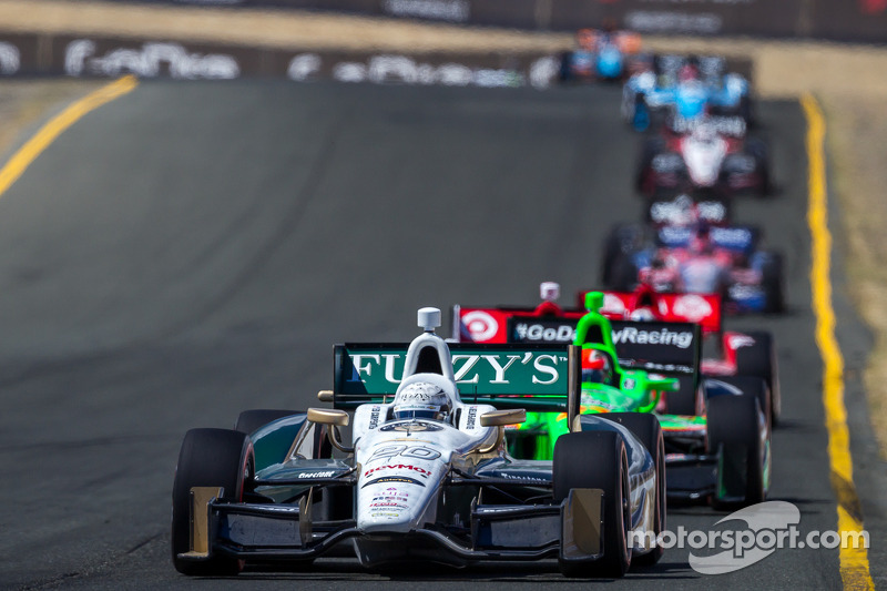 Slam, bang affair at Sonoma raceway has Carpenter battling with the leaders
