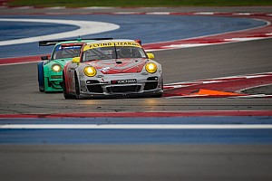ALMS Race report Flying Lizard finished in 5th and 7th places at Circuit of the Americas