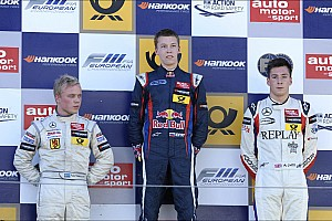 F3 Europe Race report Felix Rosenqvist wins twice to set up title showdown at Zandvoort