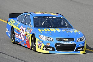 NASCAR Sprint Cup Race report Wrong place, wrong time for Newman in Kansas
