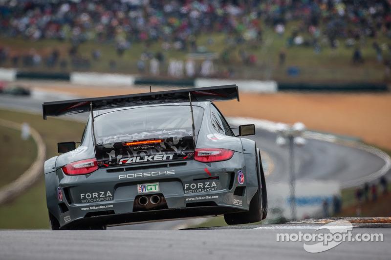Team Falken Tire Porsche 911 GT3 RSR scores GT win at final ALMS Petit Le Mans