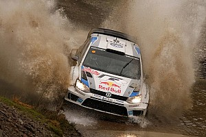 Ogier leads in Wales with one day to go