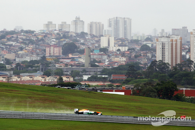Limited practice mileage for Sahara Force India at Interlagos