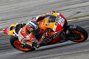 MotoGP Breaking news Pedrosa moves to top of the timings on second test day in Malaysia