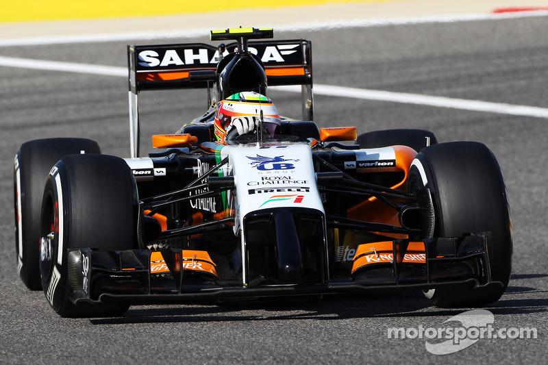 Sahara Force India's Perez start on fourth on Bahrain GP