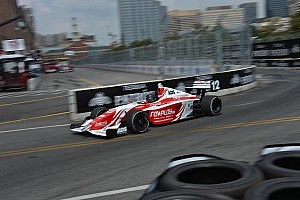 Zach Veach captured pole position on last lap of qualifying session at Long Beach