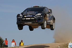 Evans encourages M-Sport in Sardinia