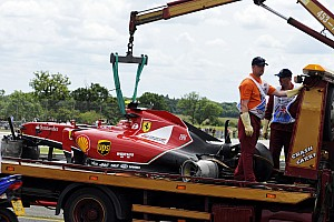 Raikkonen to miss Silverstone test after crash