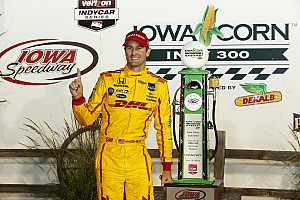 IndyCar Race report Hunter-Reay steals one in a thrilling finish at Iowa