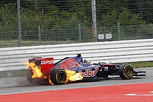 Formula 1 Race report Vergne finish on 13th and fire cause DNF for Kvyat at Hockenheim