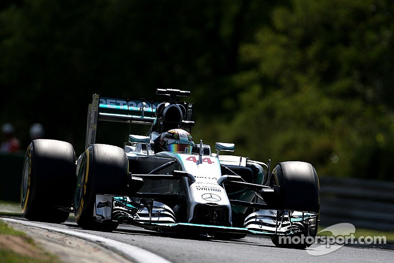 Mercedes kicked off the Hungarian GP weekend at the top of the time sheets