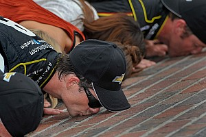 NASCAR Sprint Cup Race report Jeff Gordon wins the Brickyard 400 for a record-setting fifth time