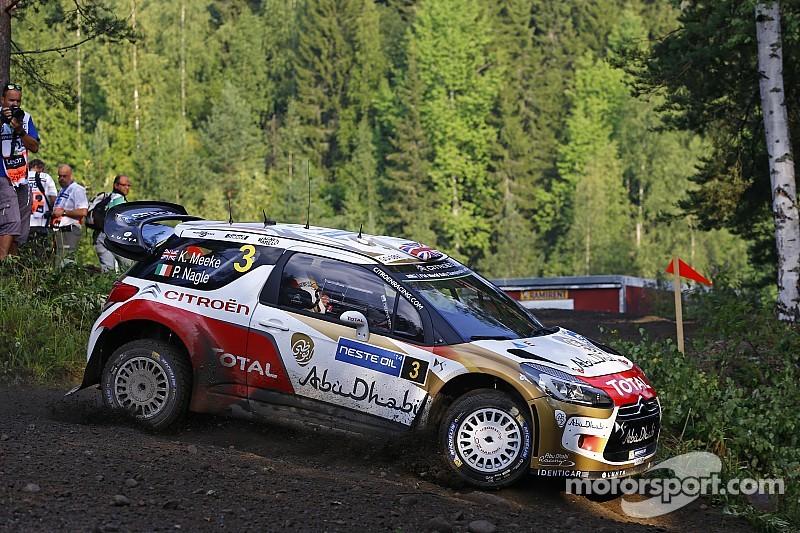 Kris Meeke gathers speed in Finland