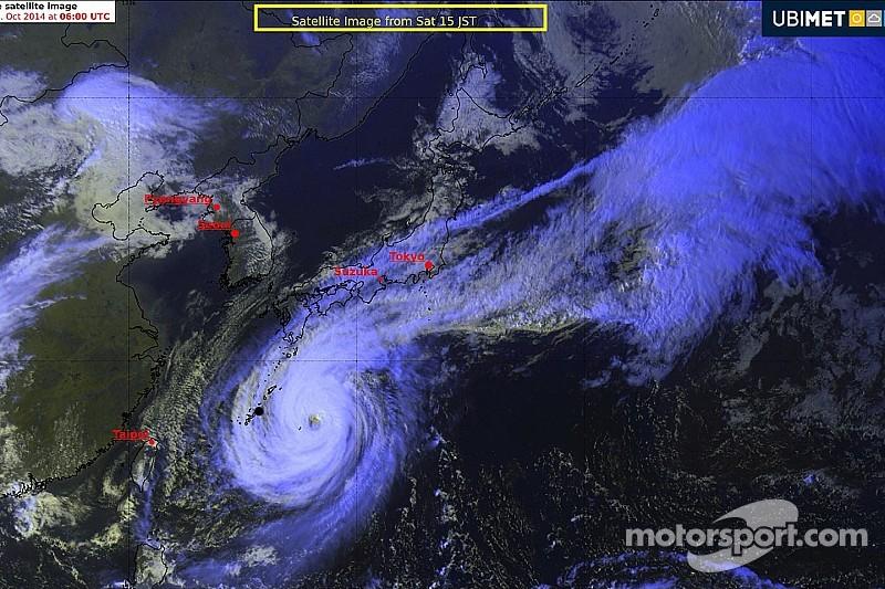 UBIMET weather update: Super Typhoon Phanfone heads for Japan coast and Formula One