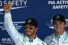 Hamilton and Rosberg finished first and second in qualifying for the Russian GP