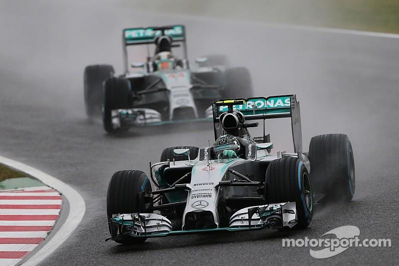 Rosberg happy with heavy Brazil rain