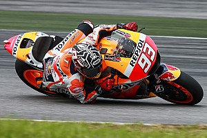 MotoGP Testing report Marquez goes quickest on day two at Sepang