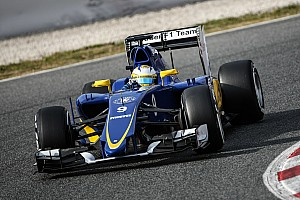 Sauber's Marcus Ericsson has been the busiest driver of the day in Barcelona