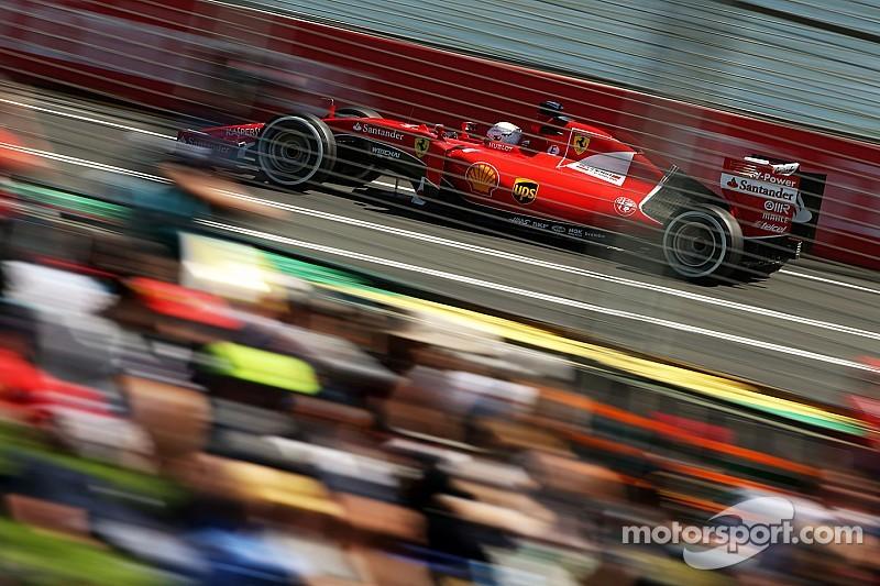 Sebastian Vettel enjoys
