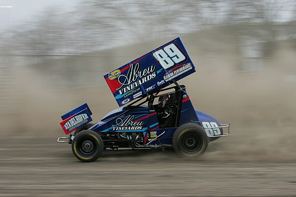 World of Outlaws Race report Rico Abreu wins wild FVP Western Spring Shootout at the Stockton Dirt Track