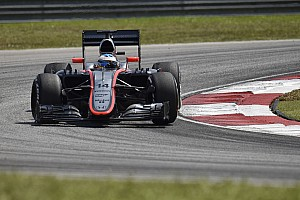 McLaren see the results of its efforts during the practice sessions today at Sepang