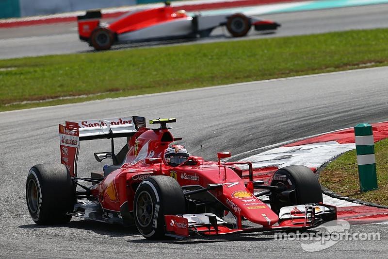 Raikkonen piensa que las condiciones ayudaron a Ferrari