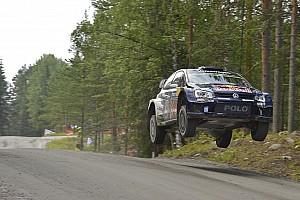 WRC Leg report Ogier holds slender Rally Finland advantage