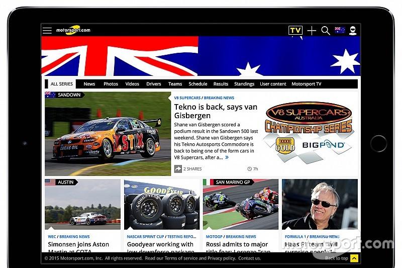 Motorsport.com lanza una nueva plataforma para Australia