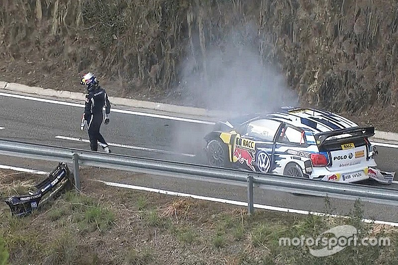 Ogier spreekt van 'stomme fout' na crash in WRC Spanje