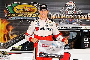 NASCAR Sprint Cup Breaking news Brad Keselowski earns Texas pole