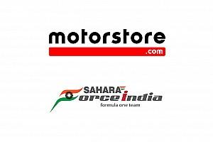 Motorstore.com e Sahara Force India Formula One Team formalizzano una partnership per l'e-commerce