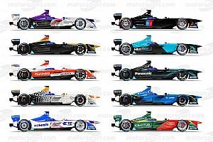 Fórmula E Conteúdo especial Confira pinturas dos carros da terceira temporada da F-E